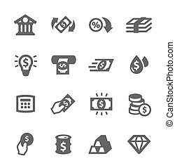 Banking icons - Simple set of banking related vector icons...