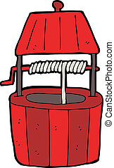 cartoon wishing well