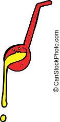 cartoon ladle -  cartoon ladle
