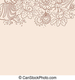 Vector flower background.