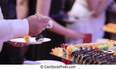 Sushi on holiday reception