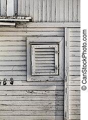 Old Wooden Summer Raft Hut - Detail