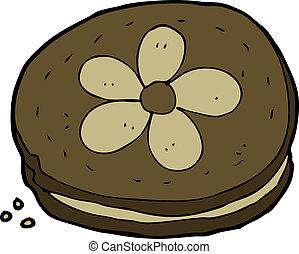 caricatura, biscoito