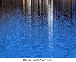 water surface like a mirror - background or texture blue...