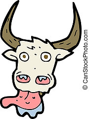 cartoon cow face
