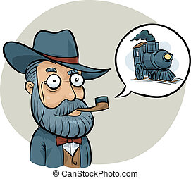 Railway Boss - An old-fashioned railway boss talking about a...