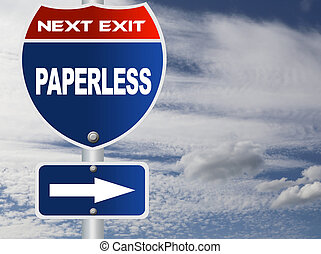 Paperless road sign