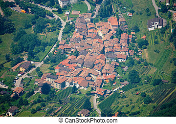 Rovio, Tessin, Schweiz - The village Rovio from birds eye...
