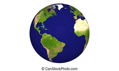 db Earth 04 - Photo-realistic earth on a white background...