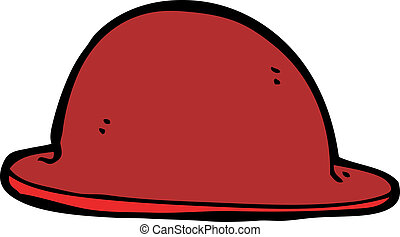 cartoon red bowler hat