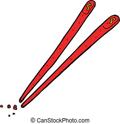 cartoon chopsticks