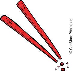 cartoon chopsticks