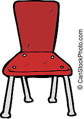 cartoon old school chair