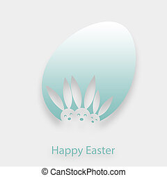 Easter background - A white-green graphic of an Easter egg...