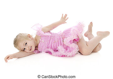 Lazy Little Dancer - An adorable preschooler going through...