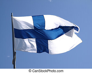 Finnish flag - the finnish flag