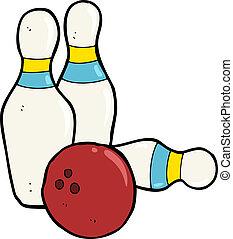 ten pin bowling cartoon