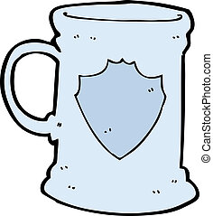cartoon old tankard