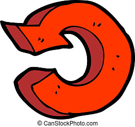 cartoon recycling symbol