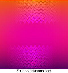 Bright Poster With Zig Zag, With Gradient Mesh, Vector...