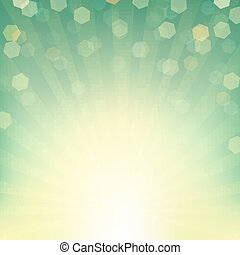 Sunburst Background With Bokeh, With Gradient Mesh, Vector...