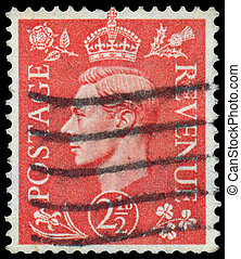Stamp printed in UK shows image of - UK - CIRCA 1950: A...