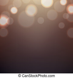 Brown Background With Bokeh, With Gradient Mesh, Vector...