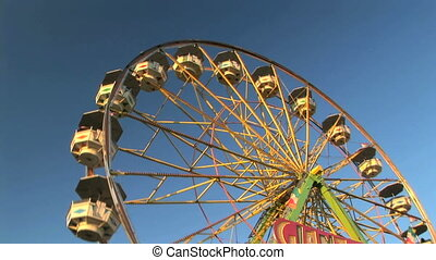 Ferris Wheel - Carnival ferris wheel, Clark county fair,...
