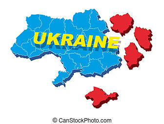 Separate Ukraine, spring events in 2014 Vector Illustration...