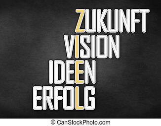 Ziel durch Zukunft Vision Ideen Erfolg - Ziel