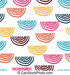 Vector seamless pattern with doodles