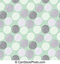 Seamless vector retro colored circle background