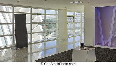 modern living room in white