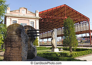 Old train station in the city of Leon, Spain