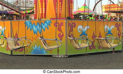 Empty swings - Carnival swing ride, Clark county fair,...
