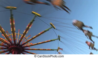 Amusement park ride - Carnival swing ride, Clark county...