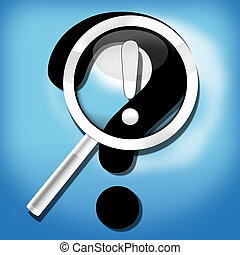 magnifying glass question mark Creative Design - magnifying...