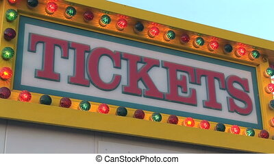Ticket Sign - Carnival ticket stand, Clark county fair,...