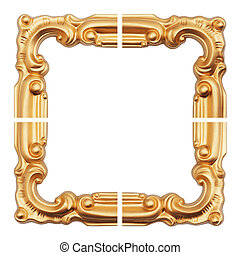 old antique gold frame.