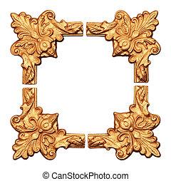 old antique gold frame.