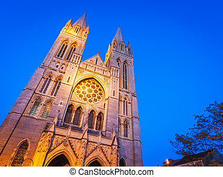 Truro Cathedral Cornwall England - Dusk at Truro Cathedral...