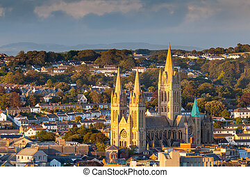 Truro Cathedral Cornwall England - Overlooking the cathedral...