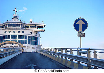 Car ferry from Dunkerque stock photo