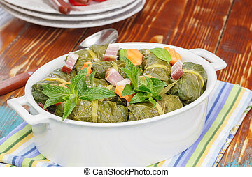 Stuffed Collard Greens - Collard Green Rolls