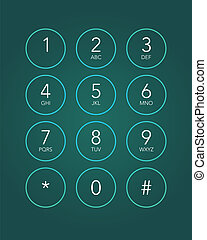 phone keypad in touchscreen device