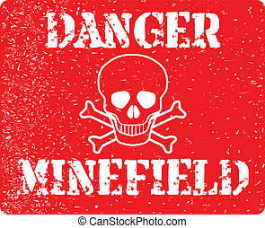 Danger Minefield - The sign from a typical minefield...