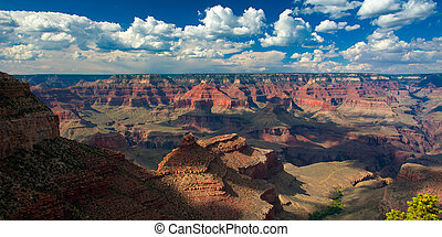 Grand Canyon - Rock formations in a canyon, Grand Canyon,...