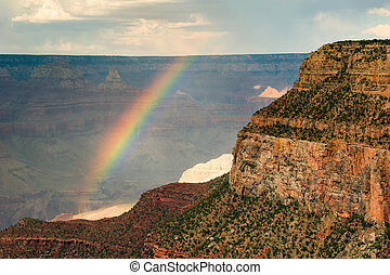 Grand Canyon - Rainbow over a canyon, Grand Canyon, Grand...