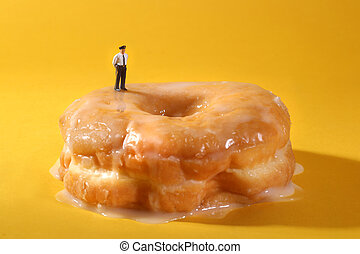 Police Officers in Conceptual Food Imagery With Doughnuts -...