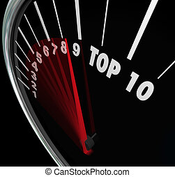 Top 10 Speedometer Scores Rising Achieve Best Ten Rating